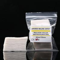 tejidos de algodón orgánico al por mayor-Mini paquete algodón orgánico puro japonés auténtico Wicks tela de algodón de Japón de MUJI para DIY RDA Atomizador Bobina Ecig 10pcs / lot DHL