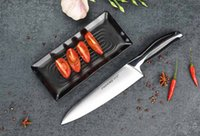 Wholesale German Steel Kitchen Knives - Cutlery Fiber Series professional german X50Cr15 stainless steel kitchen cooking tools meat fish 8 inch Chef Knife