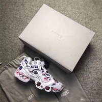 Wholesale Lace Up Pump Boots - 2017 Best Quality Boots Insta Pump Fury X Vetements Graffiti Shoes Casual Shoes Men Women Sneakers Outdoor Boost Training Shoes