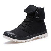 кружевные стили оптовых-Мужская обувь Army Boots Весенняя осень Lace-up Высокий стиль Паладин Холст Модный тренд Молодежная квартира с резиновым ботинком для обуви 110X