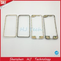 Wholesale Iphone 4s Digitizer Frame Bezel - Black White For iPhone 4 4S 5G 5S 5C 6 6Plus Front Middle Frame LCD Digitizer Display Bezel Bracket Touch Screen Holder 3M Adhesive iPhone6
