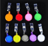 id abzeichen inhaber pvc großhandel-Versenkbare Skipass-Identifikation-Karten-Ausweisinhaber-Schlüsselketten-Ring-Spulen-Schlüsselring mit freiem Verschiffen des Klipps
