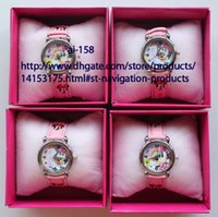 Wholesale Minnie Watch Box - New arrival 10 pcs sell like hot cakes Minnie Cartoon Child watch and Paper Watch Box Free Shipping