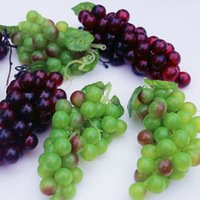 Wholesale Decorative Artificial Grapes - Idyllic Styles Home Decor Artificial Fruits Large Grapes String Decorative Craft Ornaments Wedding Christmas Shooting Props Supplies
