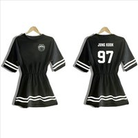 Wholesale Hope Summers - Wholesale-2015 Kpop Summer same paragraph should aid k-pop dresses BTS Bangtan Boys jin j-hope suga rap jimin V jung kook one-piece dress