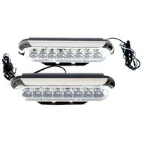 Wholesale Daytime Driving - 2 * Universal car White 16 LED Daytime Running Light DRL Car Fog Day Driving Lamp 12V 9W