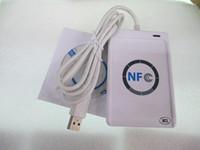 escritor de la tarjeta del nfc al por mayor-NFC Reader Writer Rfid Lector de tarjetas sin contacto para Android Linux Mac Windows NFC Etiqueta IC NFC Lector de tarjetas sin contacto