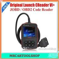 Wholesale Launch Creader Vi Plus - Original Launch Creader 6+ CReader VI+ coder reader CReader VI Plus support JOBD OBD code scanner Free shipping