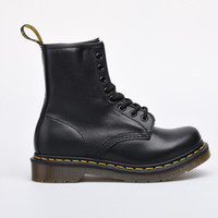 Wholesale Male Ankle Boots - Free shipping Women male black martin boots first layer of leather classic boots size 36-45