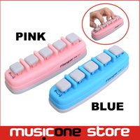 Wholesale Electronics Trainers - Flanger FA-11 Blue Pink Pro Piano Exerciser Owner's manual Piano Electronic keyboard Hand Finger Exerciser Tension Training Trainer MU0613