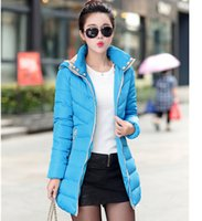Wholesale Lowest Price Down Jackets - Wholesale-Lowest price!warm winter coat 2015 New Arrival winter jacket women fashion down cotton jacket long sleeve collar hooded coat