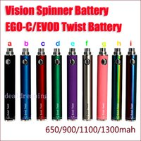 Wholesale Ego C Variable - eGo Evod Twist Batteries 1100 eGo-C Twist 650 900 1100 1300mah eGo C Twist 4.8V Variable Voltage Battery (30pcs+ by DHL)