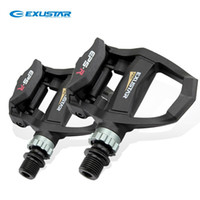 Wholesale Bicycle Clipless Pedals - EXUSTAR Cycling Road Bicycle Clipless Pedals Bike Parts Thermoplastic Body Axle CNC-machined Cr-Mo, E-PR200 (2 Color)