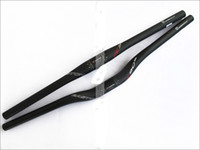 Wholesale Carbon Mountain Handlebars - EC90 Full Carbon Fiber MTB road Bicycle Handlebar mtb mountain bike Flat rise bent bar 31.8*600 620 660 680 700 720 740mm bicicleta
