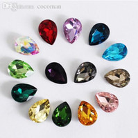 Wholesale Mix Pointed Back Crystals - Wholesale-50pcs 4*6mm Mix Color Waterdrop Silver Point Back Rhinestone Fancy Stone Droplet Glass Crystal For Jewelry Making And Strass