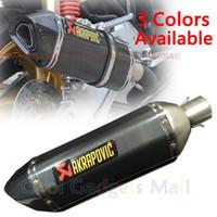 Wholesale Carbon Cbr - Modified Motorcycle Exhaust Pipe Muffler CBR CB400 CB600 CBR1000 Z750 Z800 Z1000 ER6N MAX500 Akrapovic Carbon Fiber Exhaust