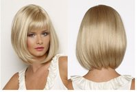 Wholesale blonde long hair styles - Popular Star Style New Arrrival Blonde Hair Long Straight SyntheticWigs Full Wigs Fashion Natrural Wig Bob Style