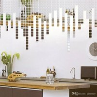 3D Sticker Acrylic Abstract New Fashion 100pcs 2x2cm Bling Bling Acrylic 3D Wall Sticker Mirror Effect Sofa Room Home Decor DIY Free Shipping