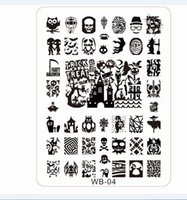 Compra Le Immagini Del Chiodo-All'ingrosso-2015NEW Konad Stamping Piatti 2pcs / lot WB01-05 Konad Stamp Nail Art 21 * 14.5cm XL piatto di immagine Template Designer, # 5plates