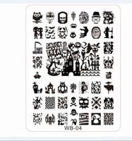 Wholesale Designer Templates - Wholesale-2015NEW Konad Stamping Plates 2pcs lot WB01-05 Konad Stamp Nail Art 21*14.5cm XL Image Plate Template Designer, #5plates