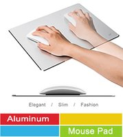 Wholesale Fashion Gaming Aluminium Mouse Pads Non slip Blasting Aluminium Surface for Fast and Accurate Control Compatiable With Macbook iMac