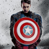 Wholesale superhero for woman - 2018 Captain America brooch superhero civil war vintage shield brooch pin logo jewelry for men and women wholesale ZJ-0903074y