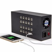 Wholesale multi usb charging station - Multi 40 Ports 60A 300W Industrial USB Power Charger Tablet PC Mobile Phone Charging Station For iPhone iPad Samsung
