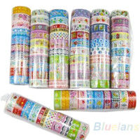 Wholesale Kawaii Deco Tape Wholesale - 10 rolls set of kawaii lovely deco cartoon tape scrapbooking adhesive paper sticker PVC 02OC