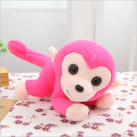 Wholesale Cheaper Toys For Christmas - Naughty Monkey with Stuffed and Plush and 25CM Length Cute Lovely Baby Toys for Kids Gifts Cheaper Fast Free Shipping SY050B