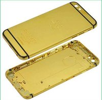 """Wholesale Iphone Gold Plated Housing - For iphone 6 24K Gold Plating Battery Back Housing Cover Skin for iPhone 6 4.7"""""""