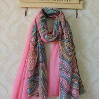 Wholesale Hijab Knit - Hot sale 100% Viscose Paisley weman Scarf Shawl Floral Hijab Muslim Headband Free Shipping