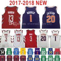 Baseball Men Short 2017-18 New 1 Devin Booker 13 James Harden Jersey Men s  2018 7d9870b0f