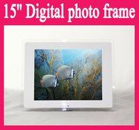 "Wholesale Digital Movie Picture Frames - 15"" 15 Inch LCD Digital Photo Frame Acrylic Multimedia Digital Picture Frames Multifunction MP3 MP4 Movie 1024x768xRGB Black white"