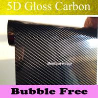 estilos do envoltório do vinil do carbono venda por atacado-Ultra Glossy 5D Fibra De Carbono Envoltório De Vinil Super Gloss 5D Carbon Wraps como real de Carbono com Bolha de Ar Livre Car styling Tamanho: 1.52 * 20 M / Roll