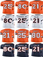 Compra Calcio Broncos-Bronco # 25 Chris Harris Jr # 21 Aqib Talib # 80 Jake Butt Uomo Donna Vapor giovanile intoccabile Colore Rush Elite Maglia da calcio personalizzata