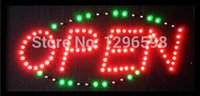 Indoor Led Signage for sale - Wholesale-2015 direct selling custom led sign 10X19 inch indoor graphics Ultra Bright flashing store open signage