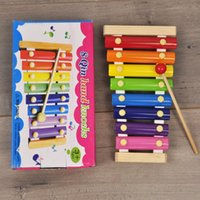 Wholesale Music Instruments For Kids Wholesale - Wholesale Learning Education Wooden Xylophone For Children Kid Musical Toys Xylophone Wisdom Juguetes 8-Note Music Instrument