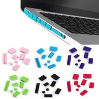 Wholesale Dust Plug Silicone - Wholesale-Scolour New Arrival Hot 9pcs Silicone Anti Dust Plug Ports Cover Set For Laptop Macbook Pro 13 15 Free shipping &wholesale
