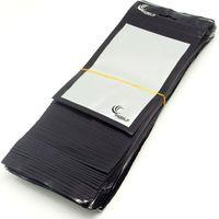 sacs en plastique d'emballage de détail noir achat en gros de-500pcs / lot En gros clair + noir Emballage de détail Sac en plastique pour chargeur de voiture de téléphone portable Accessoires Sac d'emballage 20 * 11.5 cm