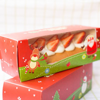 Wholesale Cookies Packaging Christmas - Christmas Packaging DIY Handmade Cake Boxes Cardboard Paper Boxes Gift Cookie Food Packaging 27.5*11*10 cm
