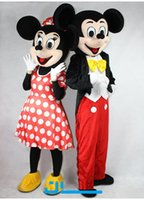 Wholesale Mouse Carnival Clothes - New Micki or Minni Mouse Cartoon Doll Performance Clothes Exhibition Carnival Celebration Party Event Mascot Costume 1 pc