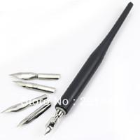 machen stift design großhandel-1 satz 5 Metallköpfe Pen-Set Acryl Nail art Tipps Design Blume Strichzeichnung Malerei Salon DIY Bilden Werkzeug