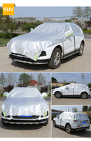 sunshades for cars Australia - Customizable! Universal Aluminum Waterproof Seamless Sunshade Car Cover Half Covers Protection for Saloon, Hatchback, SUV