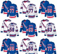 Economici 2018 2017 Nuovi uomini di marca New York Rangers 58 John Gilmour 77 Anthony DeAngelo 63 Ryan Graves Nick Holden Maglia blu hockey