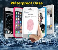 Wholesale Wholesale Fashion Phone Cases - For iphone 7 plus Touch ID Fashion Waterproof Case Shockproof Bag phone TPU Cover For iPhone7 6 6S 5S SE 7plus