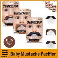 ingrosso bpa bambini-3 Styles Qualità sicura Prodotti per bambini Baby Divertente Ciuccio Baffi Ciuccio Infante Soother Gentleman bpa free