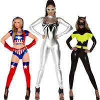Compra Costumi Cos Play-Nuovo costume da cosplay femminile di Superman Spider-Man di Halloween COS