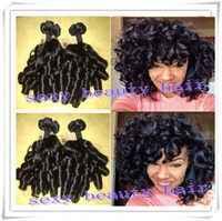 Wholesale Spiral Curls Hair Extensions - Hot !! new arrival peruvian funmi hair new style boom spiral curl human hair weaving extensions virgin curly hair weft in stock
