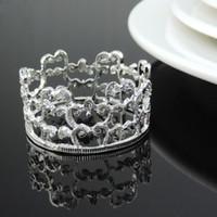 Wholesale Napkin Ring Crown - Wholesale-NEW 12 pc imperial crown Napkin Ring Serviette Holder Wedding Banquet Dinner Decor Favor Napkin buckle decorations