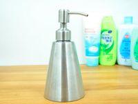 Wholesale Dispenser Detergent - European stainless steel kitchen detergent bottles luquid soap dispenser points bottling bath soap 250ML